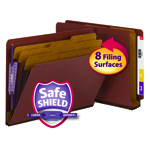 End Tab Classification Folders with SafeSHIELD® Coated Fastener Technology - 3 DIVIDERS