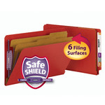 Smead End Tab Pressboard Classification Folder with SafeSHIELD® Fasteners 29783, 2 Dividers, 2