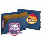 Smead End Tab Pressboard Classification Folder with SafeSHIELD® Fasteners 29784, 2 Dividers, 2