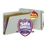 Smead End Tab Pressboard Classification Folder with SafeSHIELD® Fasteners 29800, 1 Divider, 2