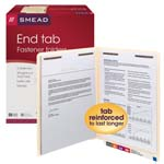 End Tab Fastener Folders with  Shelf-Master® Reinforced Tab