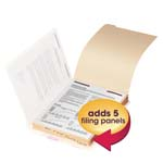 Smead Folder Dividers with Fastener 35600, Bottom 1/5-Cut Tab, Letter, Manila
