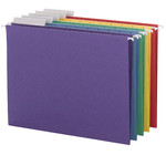 Smead Hanging File Folder with Tab 64020, 1/3-Cut Adjustable Tab, Letter, Assorted Colors
