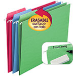 Smead Erasable FasTab® Hanging Folder 64031, 1/3-Cut Built-In Tab, Letter, Assorted Colors