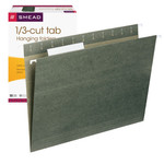 Smead Hanging File Folder with Tab 64035, 1/3-Cut Adjustable Tab, Letter, Standard Green
