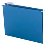 Smead Hanging File Folder with Tab 64068, 1/5-Cut Adjustable Tab, Letter, Sky Blue