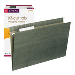 Smead Hanging File Folder with Tab 64135, 1/3-Cut Adjustable Tab, Legal, Standard Green