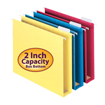 Colored Extra Capacity Hanging Folders (Box Bottom)