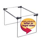 Smead Hanging File Folder Frame 64855, Adjustable Letter/Legal/A4, Gray