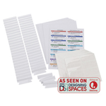 Viewables®  Premium 3D Hanging Folder Tabs & Labels, pack of 100 tabs
