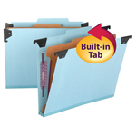 Smead Hanging Pressboard Classification File Folder with SafeSHIELD® Fastener 65115, 1 Divider, 2