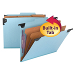 Smead Hanging Pressboard Classification File Folder with SafeSHIELD® Fastener 65115, 2 Dividers, 2