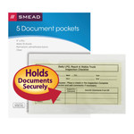 Smead Self-Adhesive Poly Pocket 68186, Document Size (9