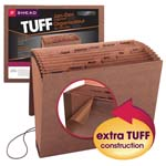 Smead TUFF® Expanding File 70388, Monthly (Jan.-Dec.), 12 Pockets, Flap and Elastic Cord Closure, Letter, Redrope-Printed Stock