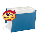 Smead SuperTab® Expanding File 70769, 12 Pockets, Flap and Cord Closure, Full-Height Gusset, Letter, Blue