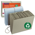 Smead 100% Recycled Expanding File 70774, Multi-Indexed (A-Z, Jan.-Dec. and Daily), 12 Pockets, Flap and Cord Closure, Letter, Assorted Colors