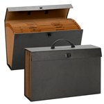 Smead A-Z and Subject Expanding File Box 70804, 19 Pockets, Alphabetic (A-Z) and Subject, Latch Closure, Legal, Black