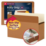 Smead Easy Grip® File Pocket 73220, Straight-Cut Tab, 5-1/4