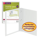 Smead Frame View Poly Report Cover 86021, Three 1/2