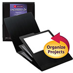 Smead Organized Up™ Stackit™ Organizer 87000, Three Pockets, Letter, Linen Stock, Black