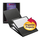 Smead Organized Up™ Stackit™ Organizer 87001, Three Pockets, Letter, Linen Stock, Gray