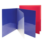 SmeadCampus.org Poly Subject Folder 87712, 4 Pockets, Letter, Assorted Colors