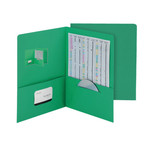 Smead Economy Two-Pocket File Folder 87823, Up to 100 Sheets, Letter, Dark Green