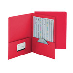 Smead Economy Two-Pocket File Folder 87824, Up to 100 Sheets, Letter, Red