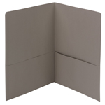 Smead Two-Pocket Heavyweight Folder 87856, Up to 100 Sheets, Letter, Gray