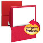 Smead Organized Up™ Stackit® File Folder 87916, One Pocket, Textured Stock, Red
