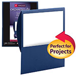 Smead Organized Up™ Stackit™ File Folder 87949, One Pocket, Letter, Linen Stock, Dark Blue