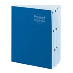 Smead Project Organizer 89200, 10 Pockets, Letter, Navy/Lake Blue