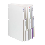 Viewables® Three-Ring Binder Index Dividers