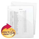 Smead Poly Translucent Slash File Jacket 89506, Three-Hole Punched, Letter, Clear