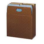 Smead Organized Up™ MO® Vertical File Case 92000, Holds up to 600 Sheets, Full-Height Sides, Letter, Brown Diamond