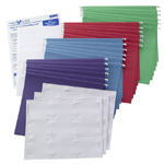 Colored Hanging Folder with Viewables® Quick Fold Tabs Kit