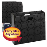 Smead MO® File Case 92021, Holds up to 350 Sheets, Full-Height Sides, Letter, Black Circles