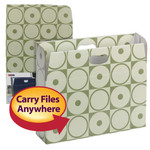 Smead MO® File Case 92022, Holds up to 350 Sheets, Full-Height Sides, Letter, Moss Circles