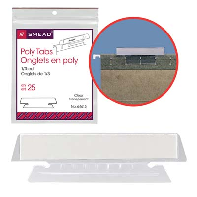 poly hanging folders tabs