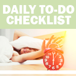 Printable Checklist: Daily To Do List