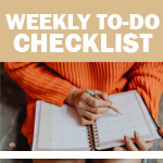 Printable Checklist: Weekly To Do List