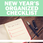 Checklist: Start the New Year Organized