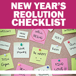 Checklist: My New Year's Resolutions