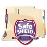 End Tab Fastener Folders with Shelf-Master® Reinforced Tab and Patented SafeSHIELD® Fasteners