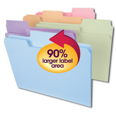 Supertab® folders now have a 90% larger label area