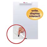 "16"" x 24""  Frameless Mini Dry-Erase Board with Clear Overlay White"