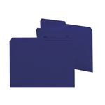Smead Reversible File Folder 10362, 1/2-Cut Printed Tab, Letter, Navy