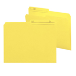 Smead Reversible File Folder 10374, 1/2-Cut Printed Tab, Letter, Yellow