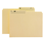 Smead WaterShed®/CutLess® File Folder 10390, 1/2-Cut Tab, Letter, Manila