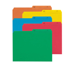 Smead Reversible File Folder 10391, 1/2-Cut Printed Tab, Letter, Assorted Colors